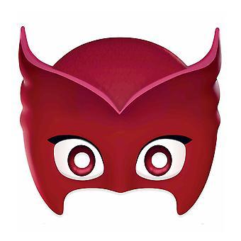 Owlette fra PJ masker enkelt 2D kort partiet ansiktsmaske