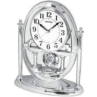 الجدول ساعة الكوارتز مكتب على مدار الساعة مع إيقاع البندول المسكن فضة