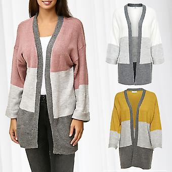 JDY Ladies Sweater Cardigan Long Knitted Jacket Striped Jacqueline de Yong Only