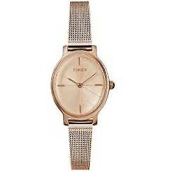 Timex Ladies Milano Oval Rose Gold Mesh TW2R94300D7PF Watch
