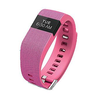 Stuff Certified ® Original TW64 Smartband Sport Smartwatch Smartphone Watch OLED iOS Android Pink