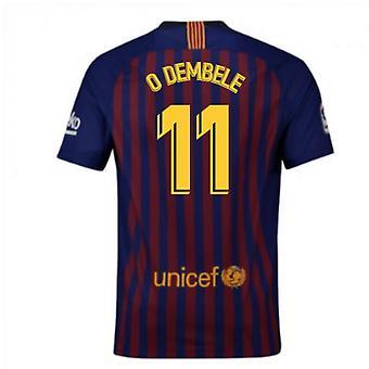 2018-2019 Barcelona Casa camiseta de fútbol Nike (O Dembele 11) - niños