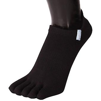 TOETOE Running Trainer Toe Socks - Black