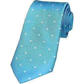 David Van Hagen cravatta di seta a pois - turchese