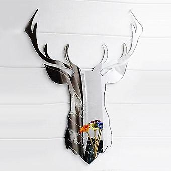 Stag Head with Antlers Engraved Acrylic Mirror