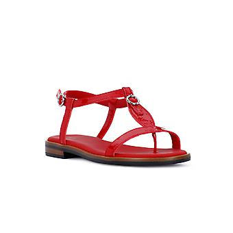 Frau red patent leather sandals
