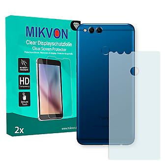 Honor 7X reverse Screen Protector - Mikvon Clear (Retail Package with accessories) (reduced foil)