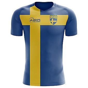 2018-2019 Sweden Flag Concept Football Shirt