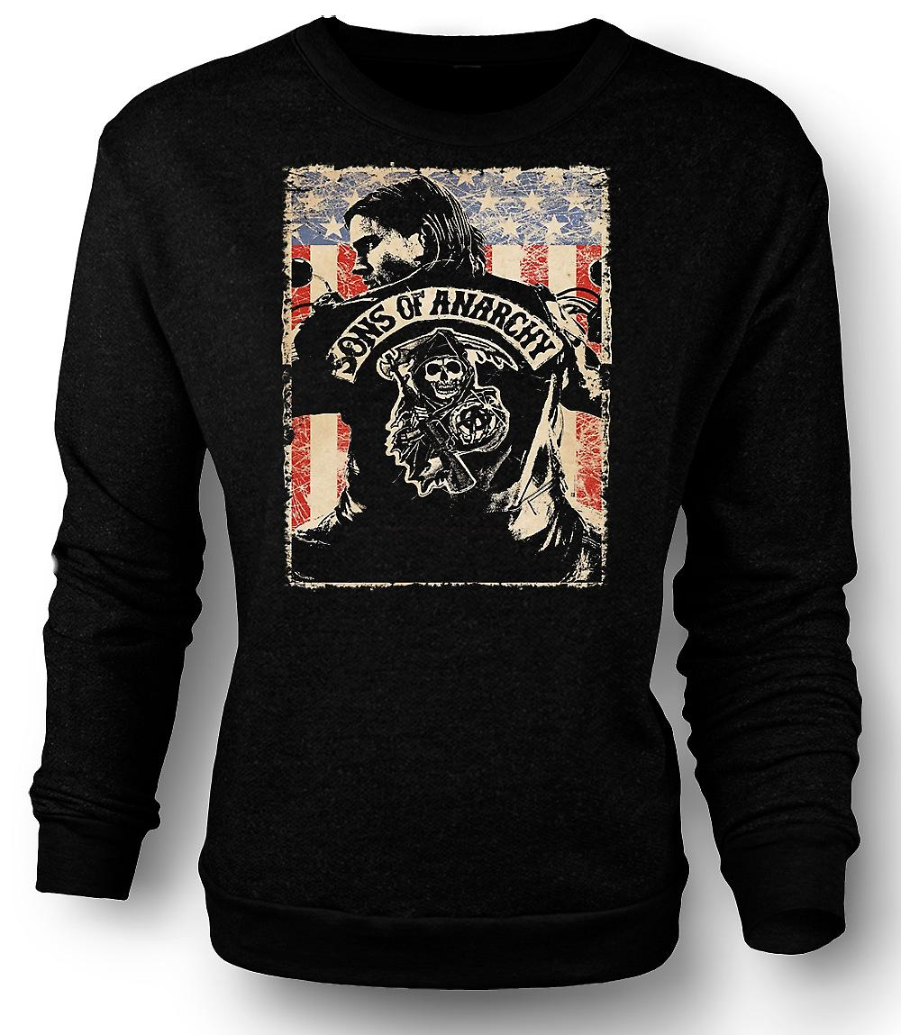 Mens Sweatshirt Sons Of Anarchy - MC-gäng - TV affisch