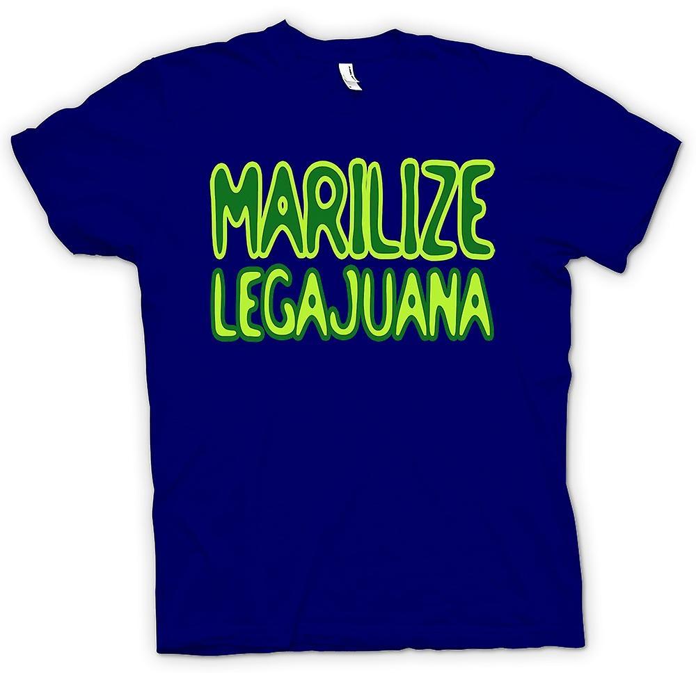 Mens T-shirt-Marilize Legajuana Weed