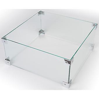 Happy Cocooning glas rektangel 100x33xH17 cm-stor udendørs pejs konvertering