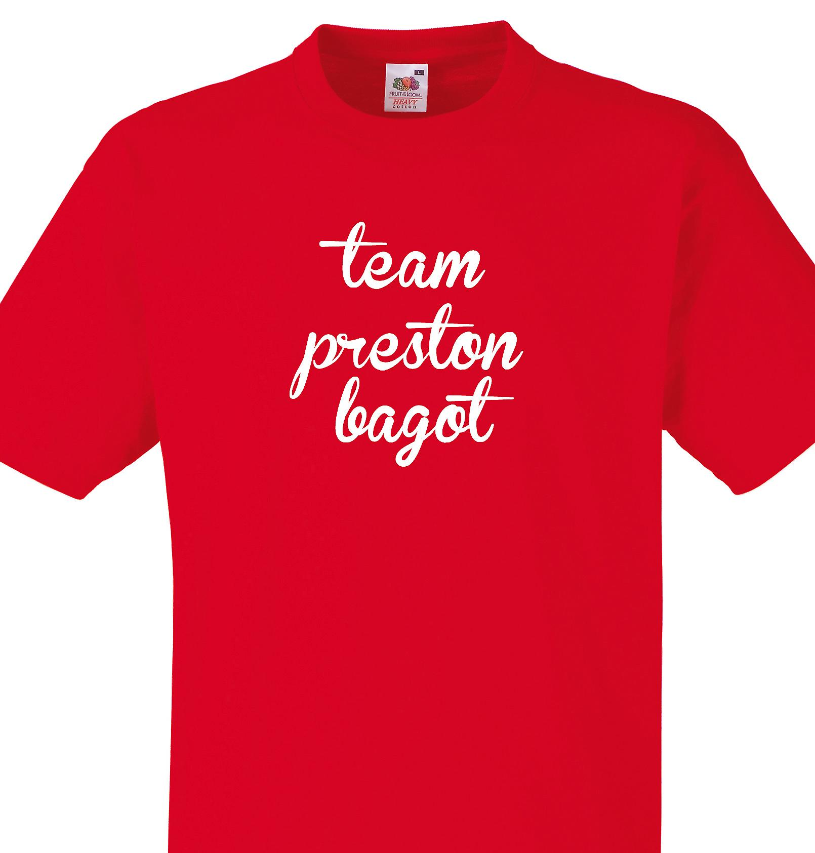 Team Preston bagot Red T shirt