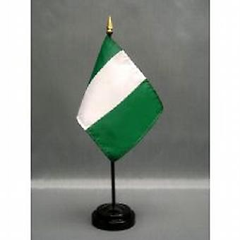 Nigeria Table Flag with Stick & Base