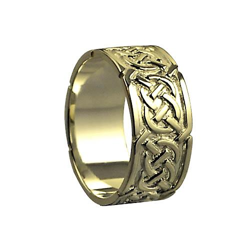 18ct Gold 8mm Celtic Wedding Ring Size M