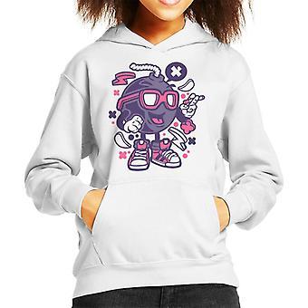 Bomb Cartoon Character Kid's Hooded Sweatshirt