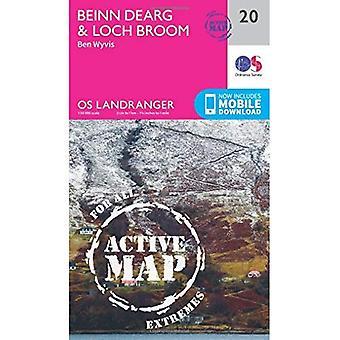 Beinn Dearg & Loch Broom, Ben Wyvis (OS Landranger Map)
