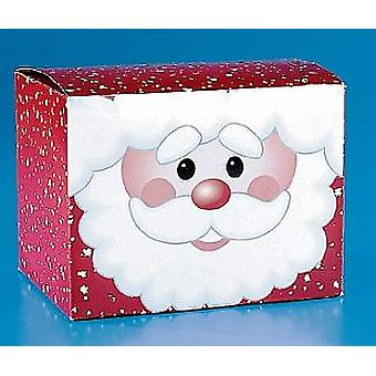 12 Santa Card Christmas Favour or Gift Boxes   Christmas Party Loot Bags