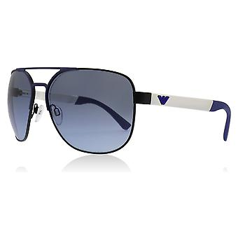 Emporio Armani EA2064 32248F Matte Black / Blue EA2064 Square Pilot Sunglasses Lens Category 2 Size 62mm
