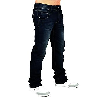 New mens jeans pants designer black Denim Style Clubwear-Unleashed Jeansnes
