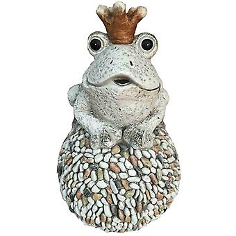 Frog with Crown Granite 38 cm Garden ornament MGO