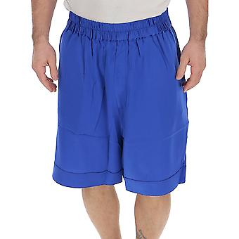 Laneus Blue Silk Shorts