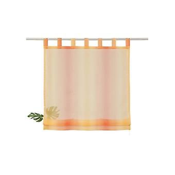 my home Gardine modernes Voile-Raffrollo mit Schlaufen Orange