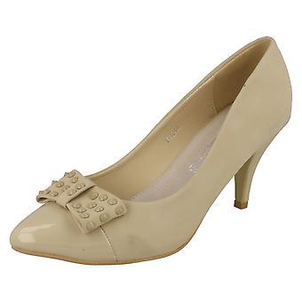 Las señoras punto medio zapatos de tacón de corte