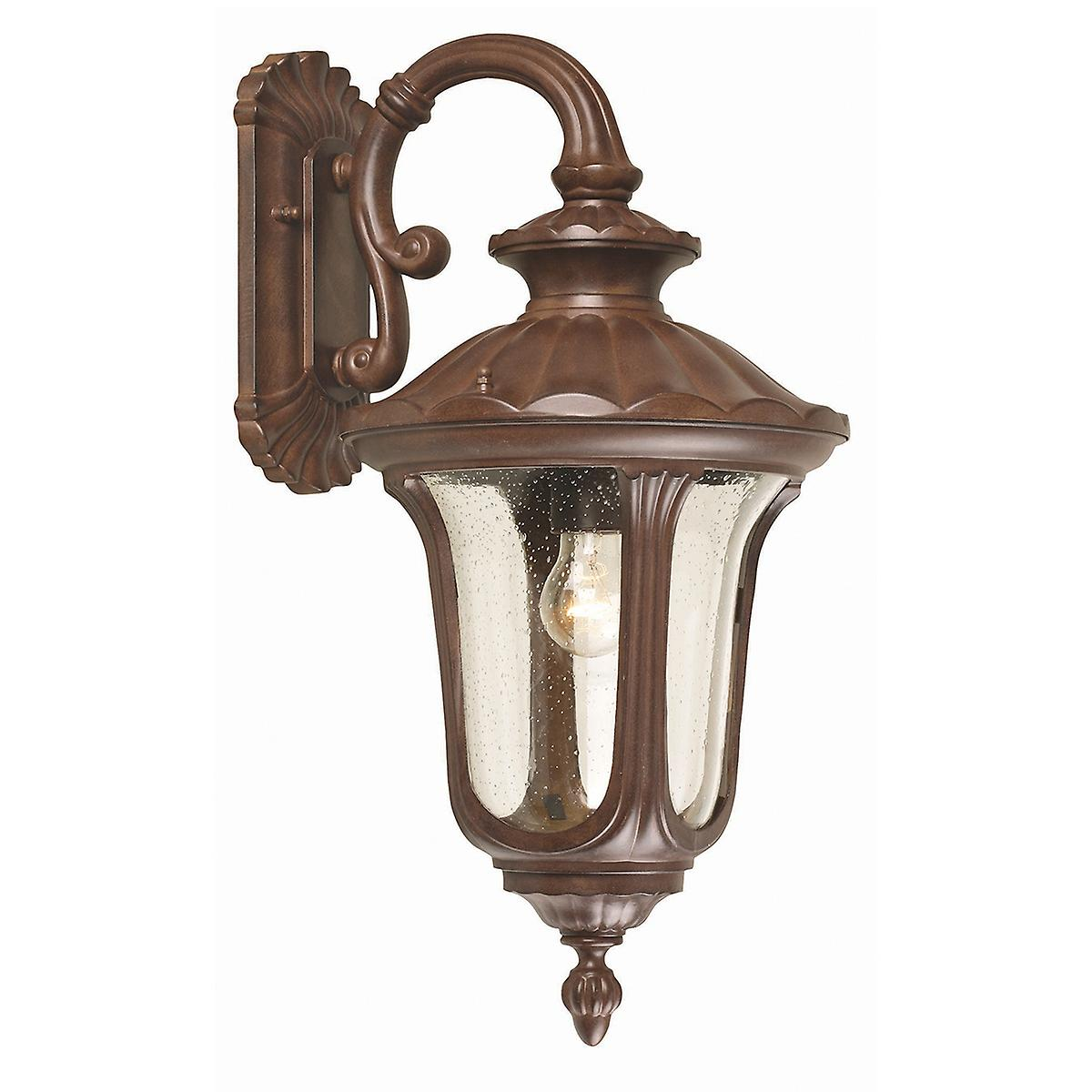 Elstead CC2/M Chicago Medium Outdoor Wall Down Lantern with Textured Glass