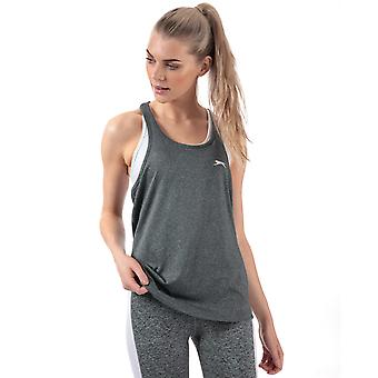Womens Slazenger Rogue Swing Top In Charcoal Marl