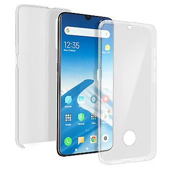 Silicone case + back cover in polycarbonate for Xiaomi Mi 9 - Transparent