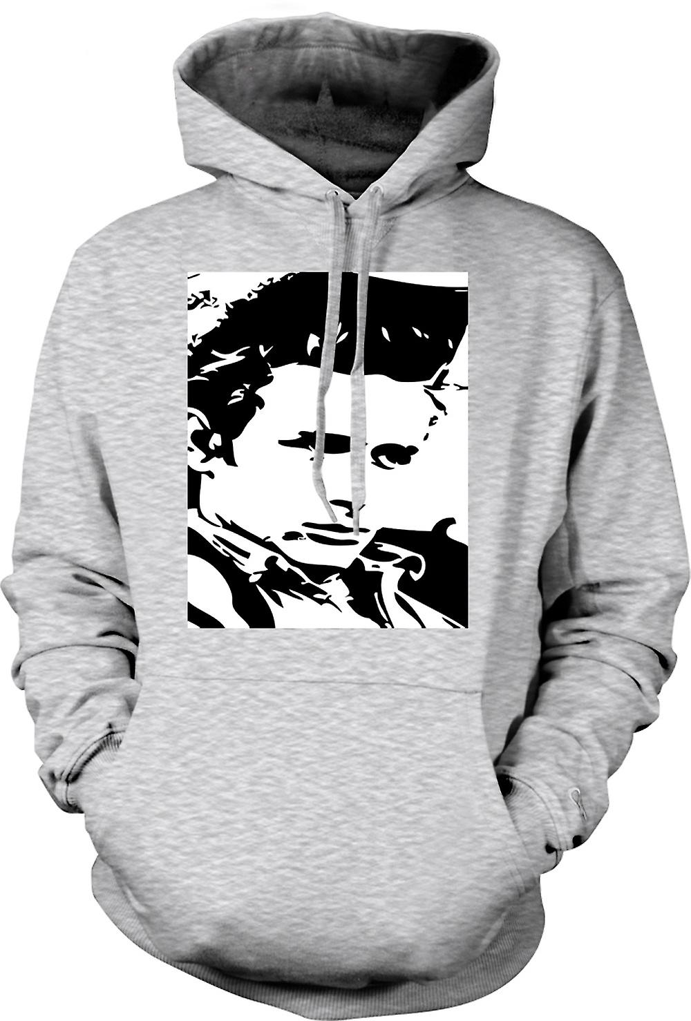Mens Hoodie - James Dean Portrait - Icon - BW