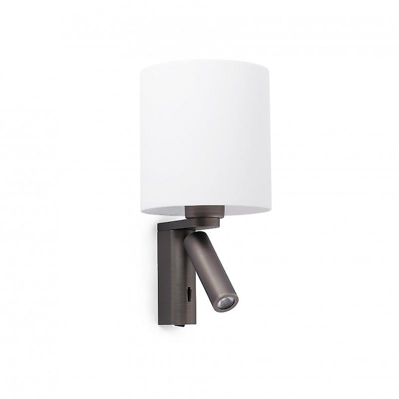 Rob Bronze Wall Lamp With Led Reader