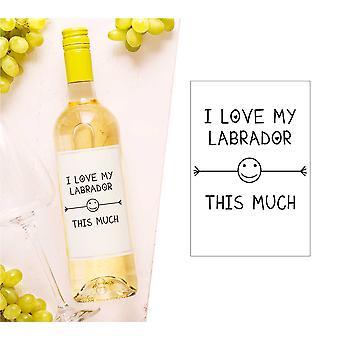 Jeg elske meg Labrador denne mange vin flasken avmerke