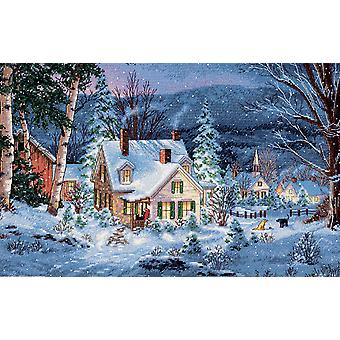 Gold Collection Winter's Hush Counted Cross Stitch Kit 20