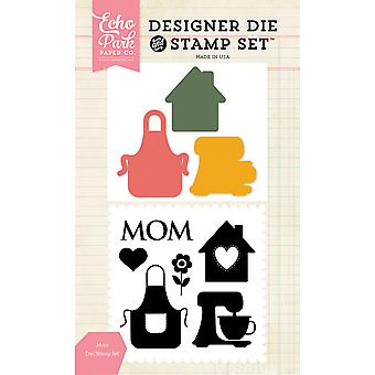 Echo Park Die & Stamp Combo Set-Mom EPDIST40