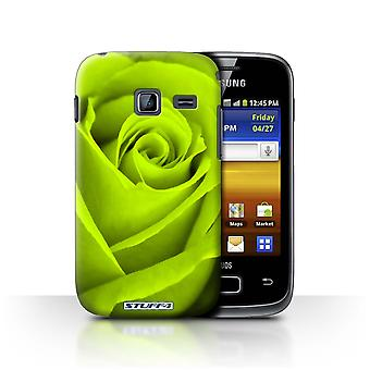 STUFF4 Case/Cover for Samsung Galaxy Y Duos/S6102/Green/Rose