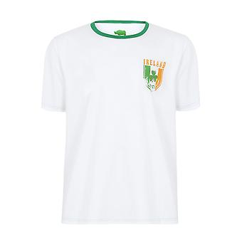 BadRhino hvit kort erme t-skjorte med Irland Emblem