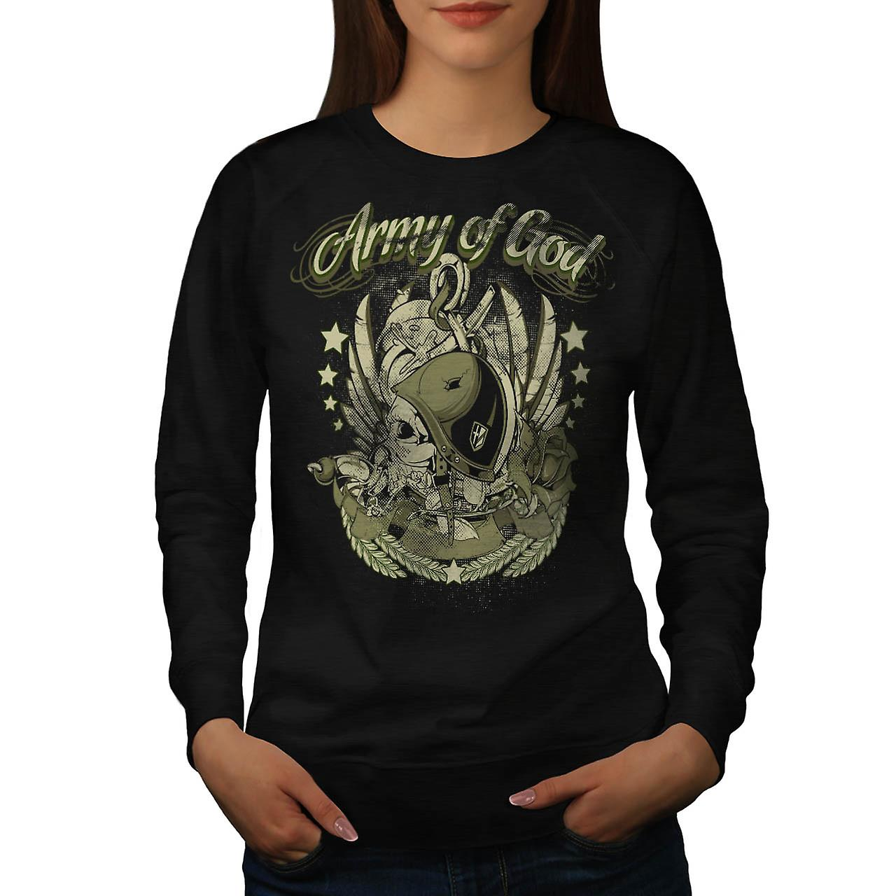 God Army Air Force schedel Troop vrouwen zwart Sweatshirt | Wellcoda