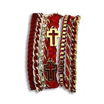 Goddess of fire layered bracelet