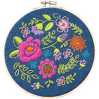Floral Explosion Stamped Embroidery Kit-6