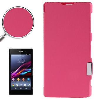 Mobile case bag for Sony Xperia Z1 / L39h pink brushed