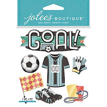 Jolee's Boutique Dimensional Stickers-Soccer E5021958