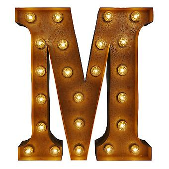 Large Vintage Letter Lights - M