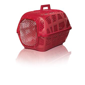 Carry Sport Pet Carrier With Metal Door Red 48.5x32x34cm (Pack of 6)