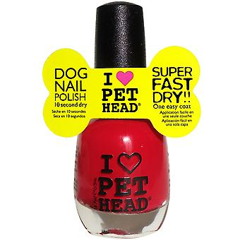 Pet Head Nail Polish 14.7ml Red (Pack of 4)