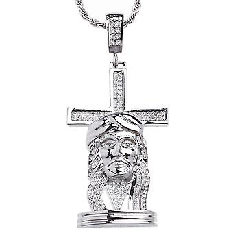 Iced out bling hiphop ketting - Jezus & Kruis