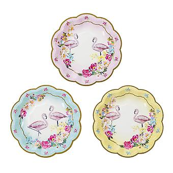 Talking Tables Truly Flamingo Party Paper Plates x 12