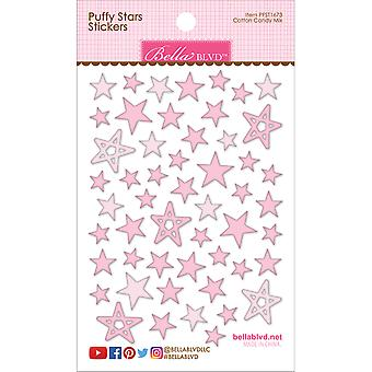 Puffy Star Stickers-Cotton Candy Mix PFST-1673