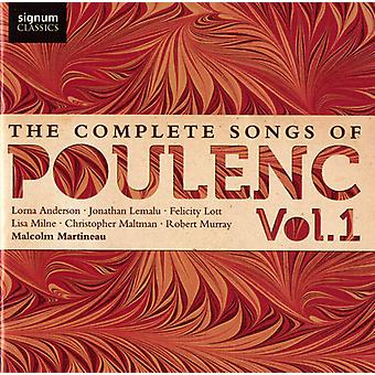 F. Poulenc - The Complete Songs of Poulenc, Vol. 1 [CD] USA import