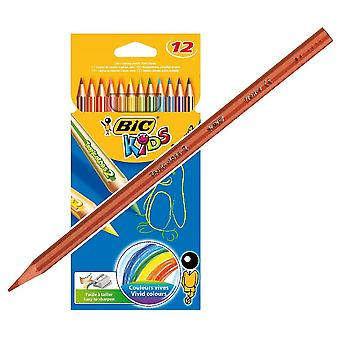 Bic Estuche 12 Lápices Colores Tropicolo (Toys , School Zone , Drawing And Color)